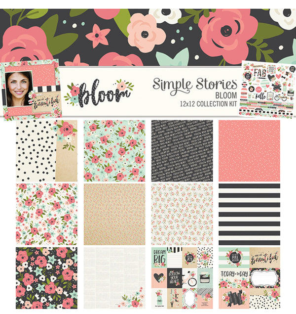 "Simple Stories Bloom Collection Kit Includes 12"" x 12"" Double-Sided Cardstock Paper and Cardstock Combo Sticker Sheet at Craftforher"