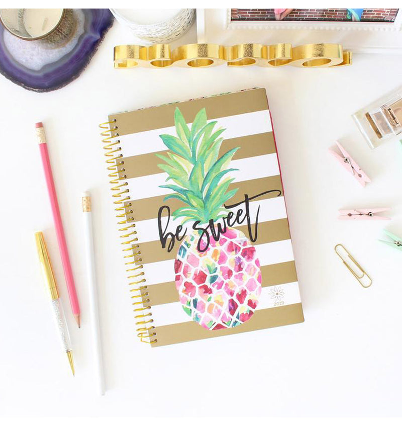 Bloom Be Sweet Pineapple 2019 Soft Cover Daily Planner