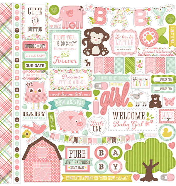 Echo Park Paper Element of Joy Girl Cardstock Stickers