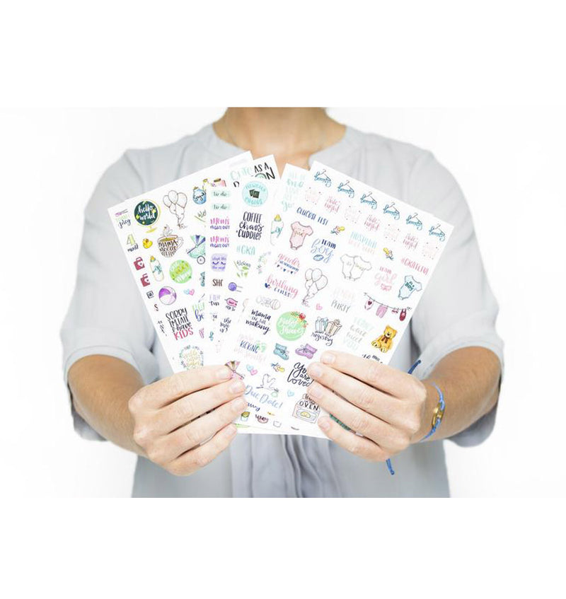 Holding Bloom Pregnancy & Baby's First Planner Sticker Sheet 6 pieces