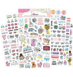 Bloom Pregnancy & Baby's First Planner Sticker Sheet 6pcs of Different Designs at Craftforher