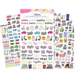 Bloom Productivity Planner Sticker Sheet 6 pieces All Sheets Display at Craftforher