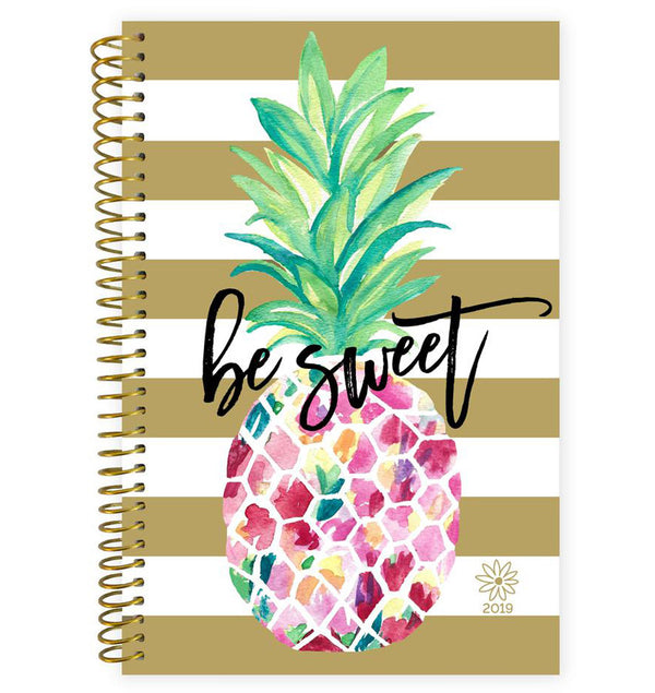 Bloom Be Sweet Pineapple 2019 Soft Cover Daily Planner Cover at Craftforher