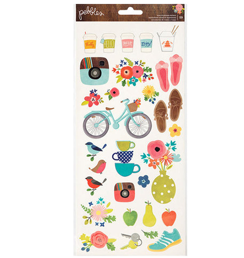 Cardstock Stickers - Icons 59pcs