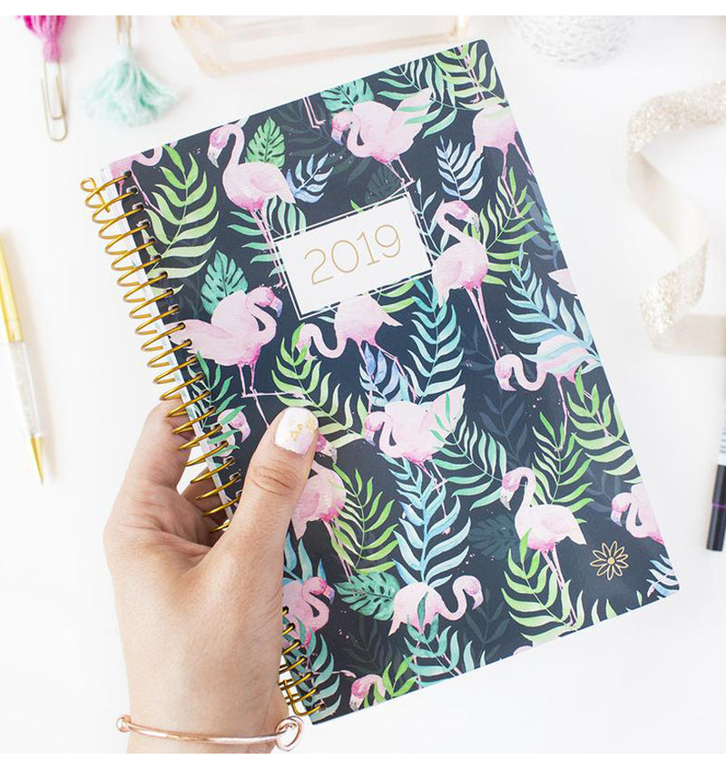 Holding a Bloom Flamingos 2019 Soft Cover Daily Planner