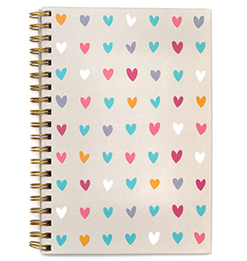 "Hearts Hardcover Journal (7.5""x10"")"