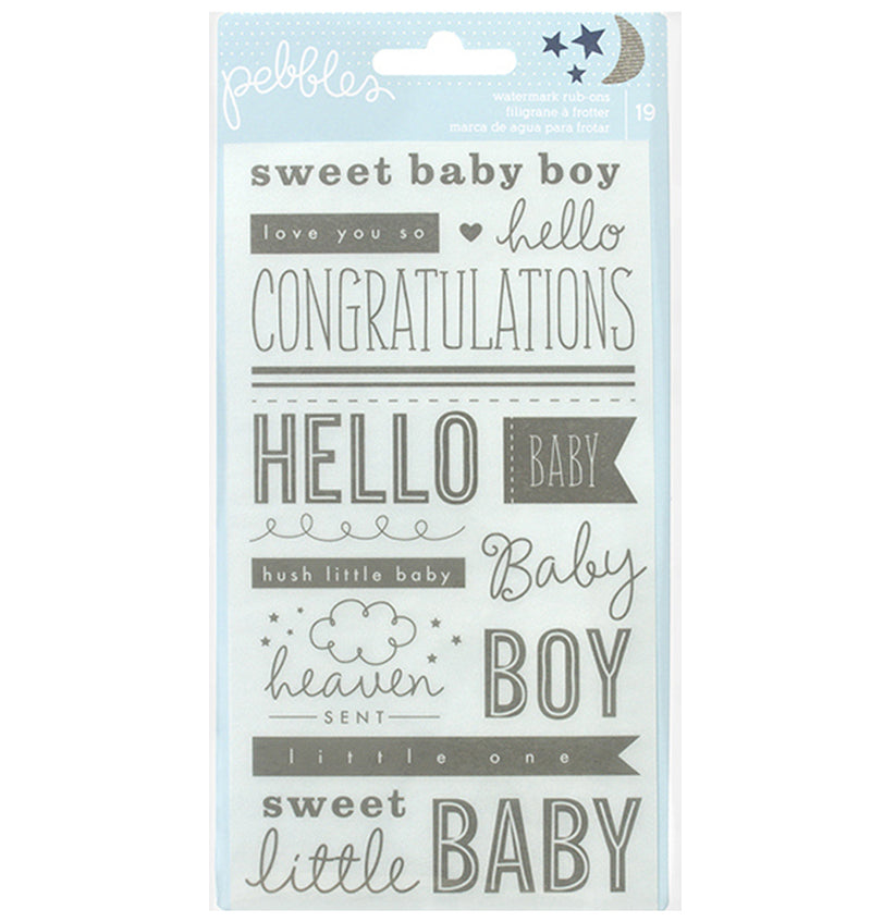 Baby Boy Phrases Rub Ons