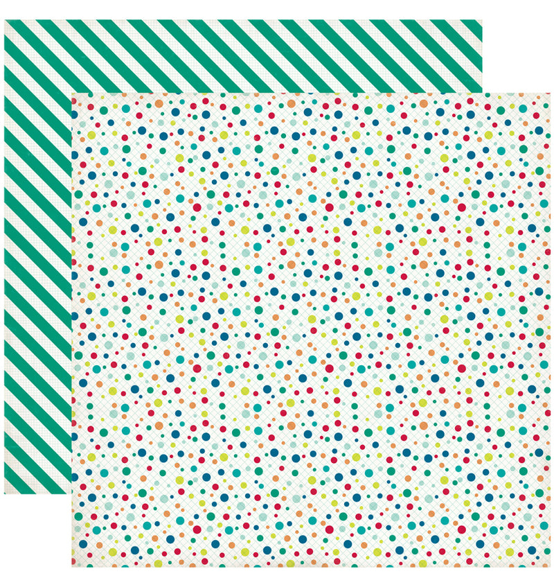 Echo Park Birthday Wishes Boy Birthday Dots Cardstock Paper