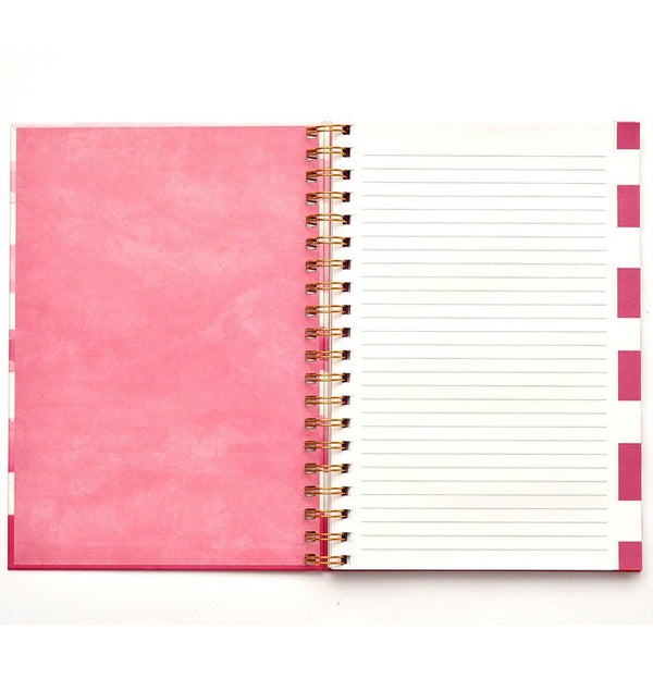 "Pink Geometry Hardcover Journal (7.5""x10"")"