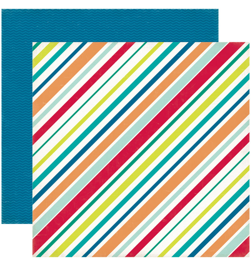 Echo Park Birthday Wishes Boy Birthday Stripes Cardstock Paper