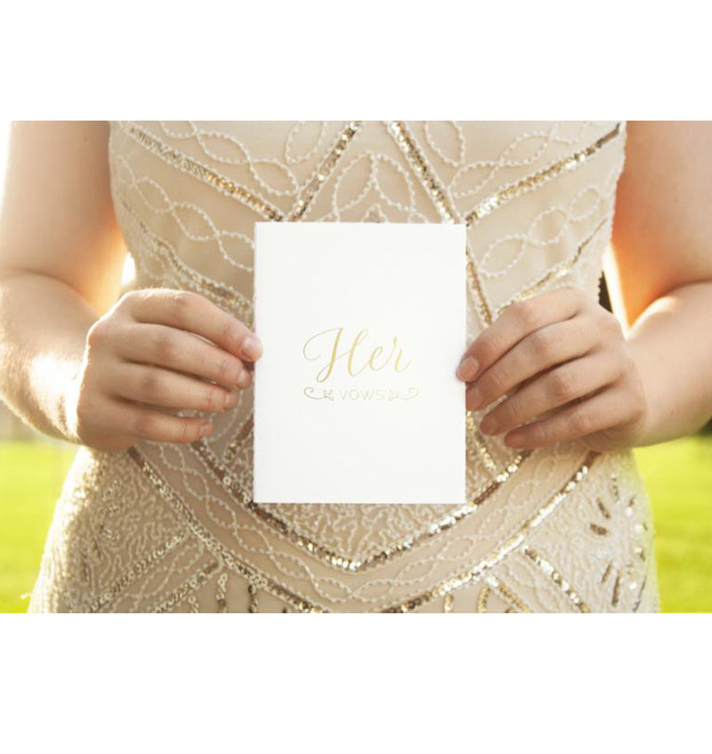 Wedding Solemnisation Vow Book Set (His & Her)
