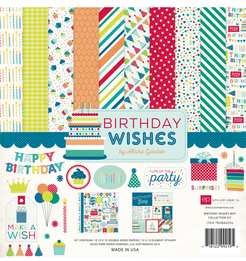 Echo Park Paper Company Happy Birthday Boy Collection Kit