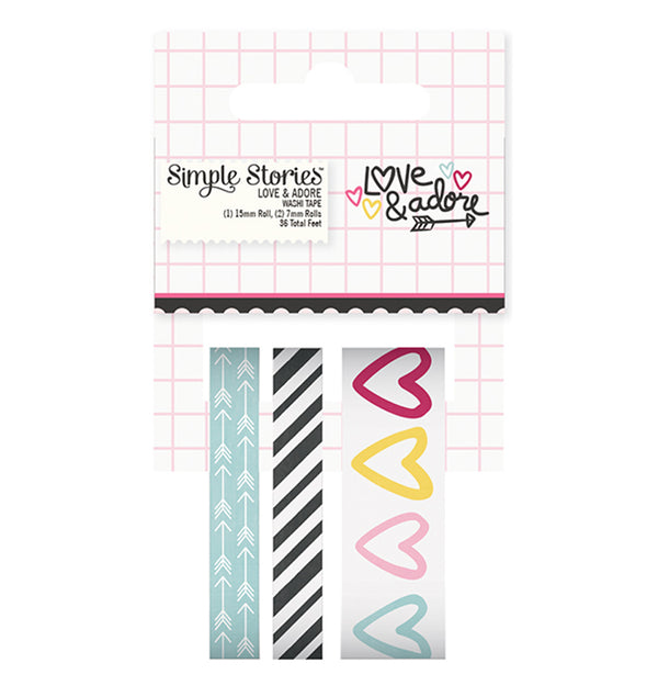 Love & Adore Washi Tape 3rolls
