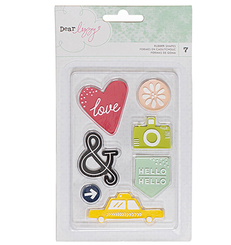 Dear Lizzy Rubber Stamp 7pcs