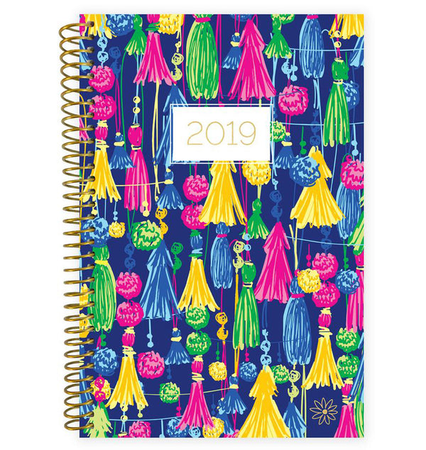 Bloom Navy Based Tassels 2019 Soft Cover Daily Planner Front Cover Design at Craftforher