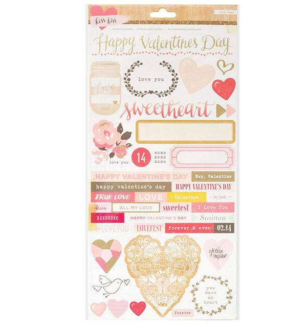 Crate Paper Valentine Journaling and Title Stickers