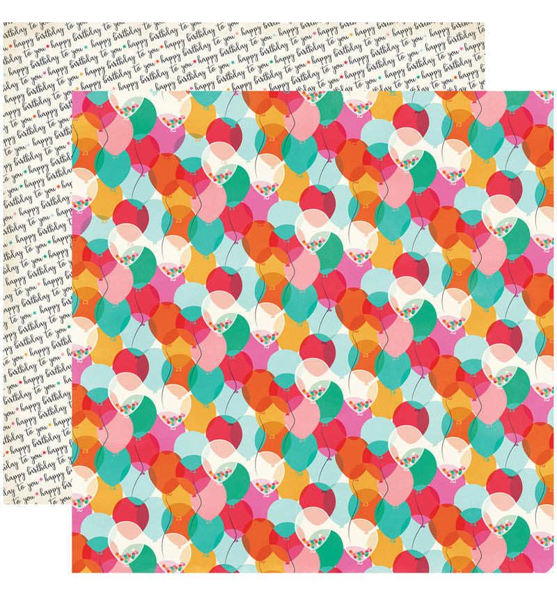 "Echo Park Party Time Collection Kit, Celebrate Cardstock Paper 12"" x 12"""