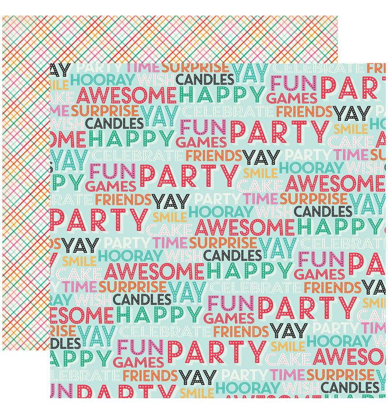 "Echo Park Party Time Collection Kit, Surprise Party Cardstock Paper 12"" x 12"""