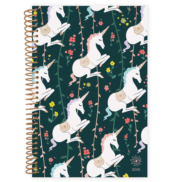 Bloom's Unicorn 2019 Soft Cover Daily Planner Front Cover Design at Craftforher
