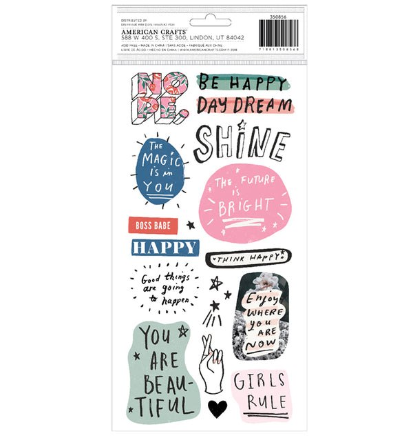 All Heart Dreamer Puffy Phrases & Icons Thickers 350856