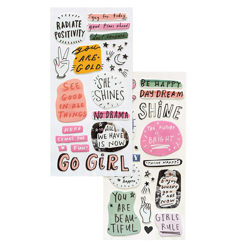 All Heart Dreamer Puffy Phrases & Icons Thickers Actual
