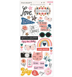 Crate Paper All Heart with Iridescent Accent Stickers