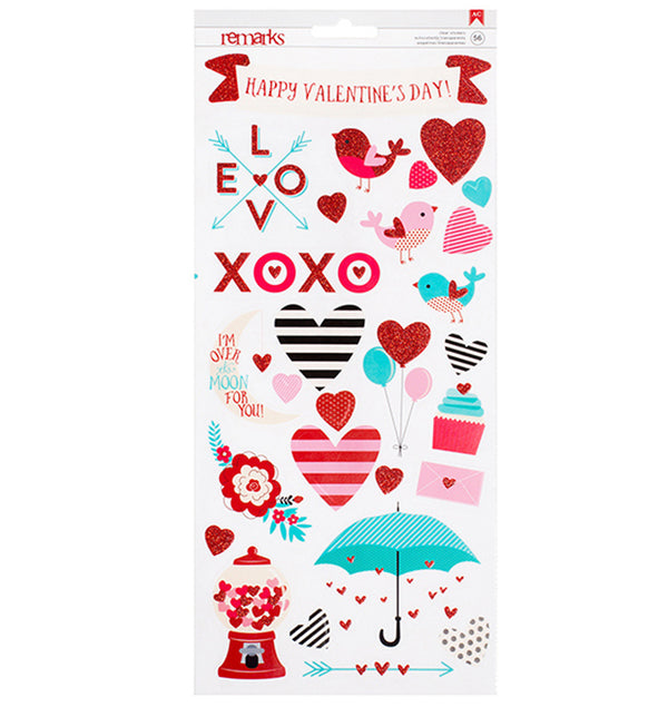 American Crafts Valentine Accent & Phrases Stickers Front