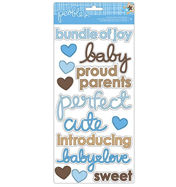 Baby Boy Accent & Phrase Stickers