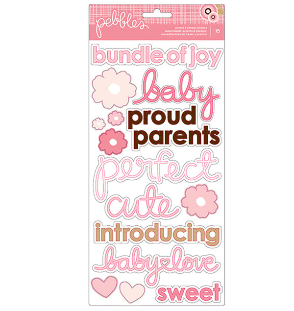 Baby Girl Accent & Phrase Stickers