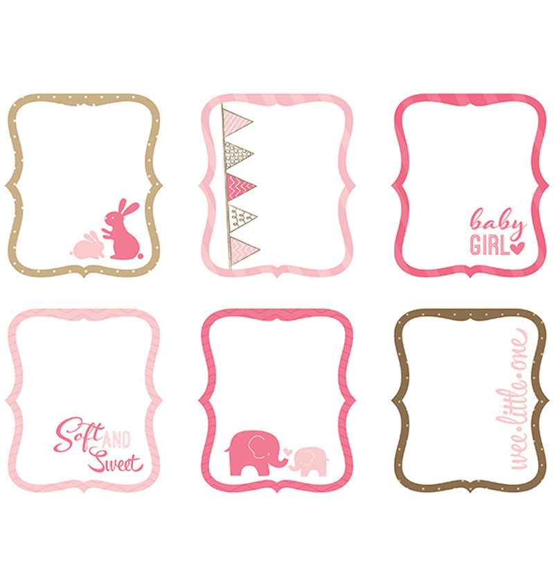 Baby Girl Die Cut Tags