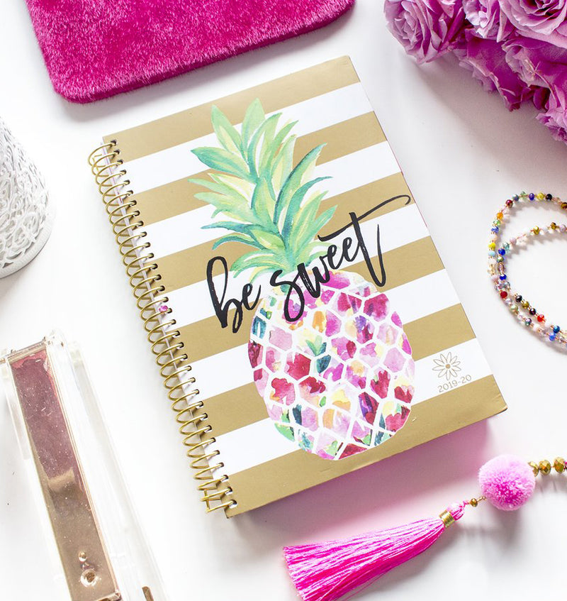 Be Sweet Pineapple 2019-2020 Bloom Soft Cover Daily Planner Cover