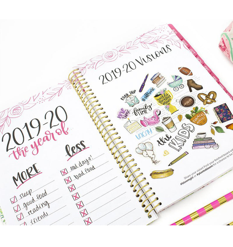 Be Sweet Pineapple 2019-2020 Bloom Soft Cover Daily Planner Visions