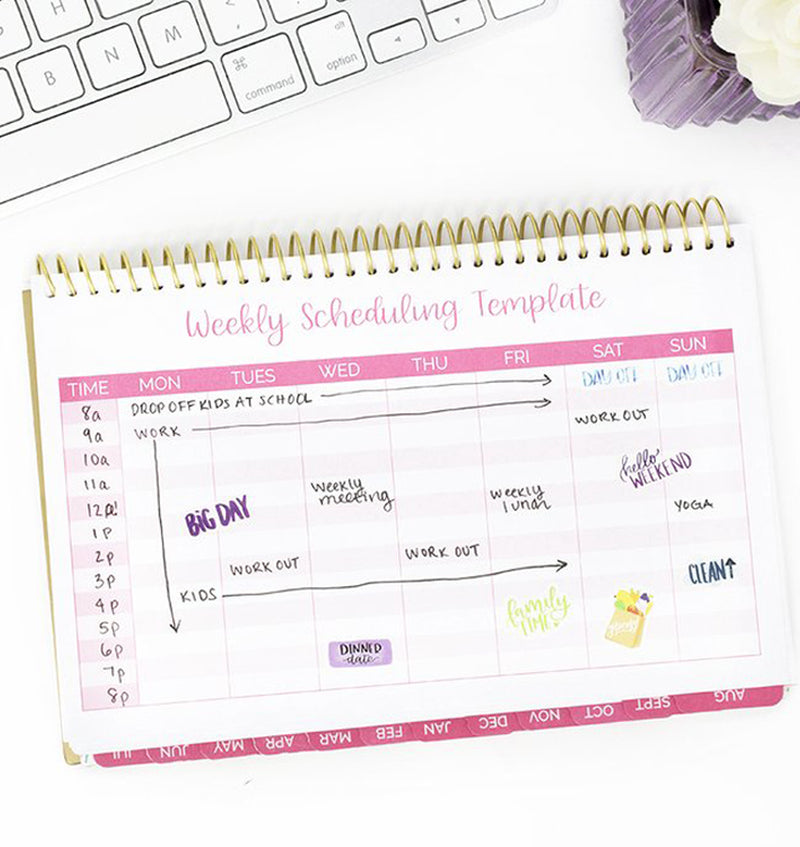 Be Sweet Pineapple 2019-2020 Bloom Soft Cover Daily Planner Weekly Scheduling Template