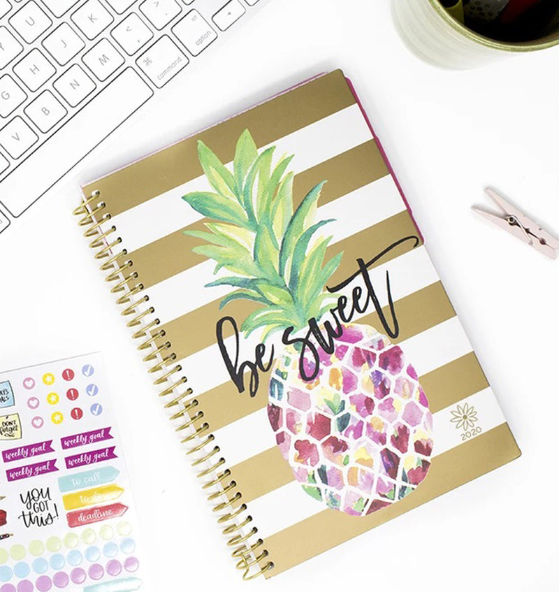 Bloom Be Sweet Pineapple 2020 Soft Cover Planner Display