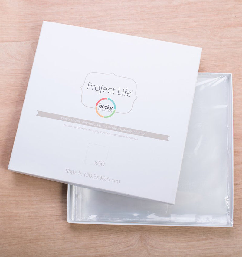Project Life Big Pack 12 x 12 Page Protector (60pcs) Actual