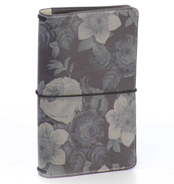 Carpe Diem Black Vintage Floral Traveller's Notebook