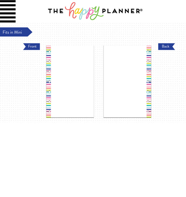 Blank Mini Note Paper (Mini Happy Planner) Page Layout