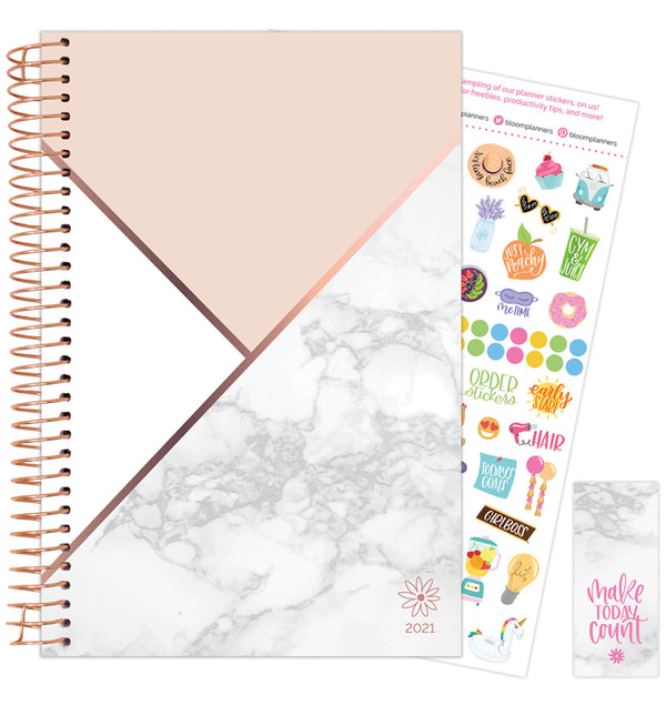 Blocking Marble 2021 Soft Cover Daily Planner