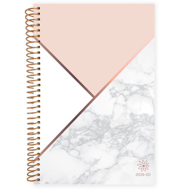 Blocking Marble 2019-2020 Bloom Soft Cover Daily Planner