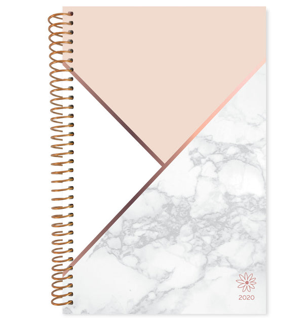 Bloom Blocking Marble 2020 Soft Cover Daily Planner