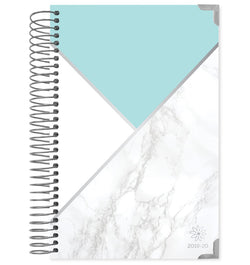 Blocking Marble Mint 2019-2020 Bloom Hard Cover Daily Planner