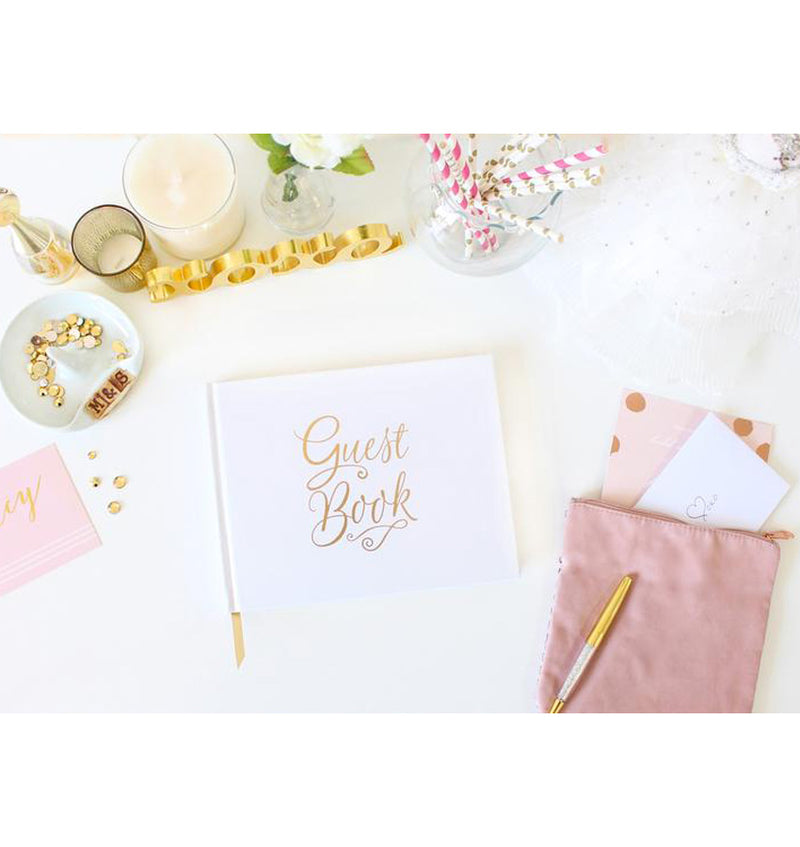 Bloom's Classic Gold Foil Hardcover Guest Book Display 2