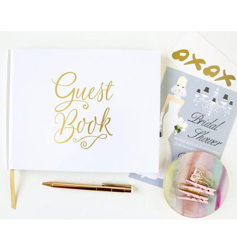 Bloom's Classic Gold Foil Hardcover Guest Book Display