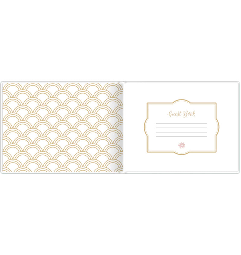 Bloom's Classic Gold Foil Hardcover Guest Book Front Pages