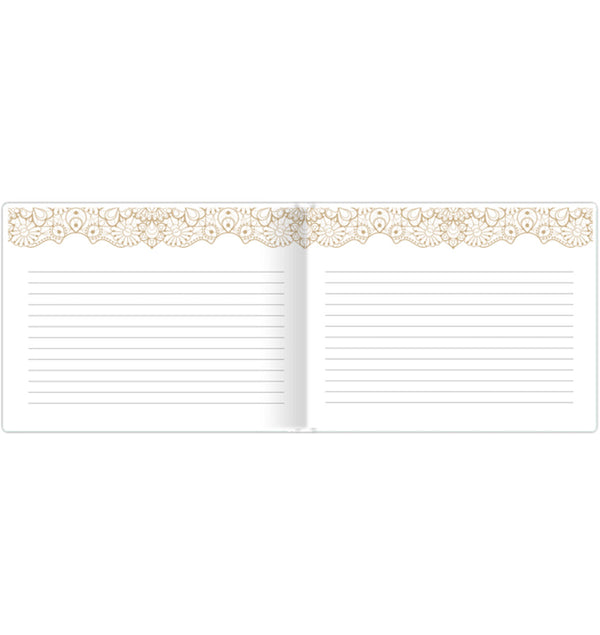 Bloom's Classic Gold Foil Hardcover Guest Book Inner Pages Layout