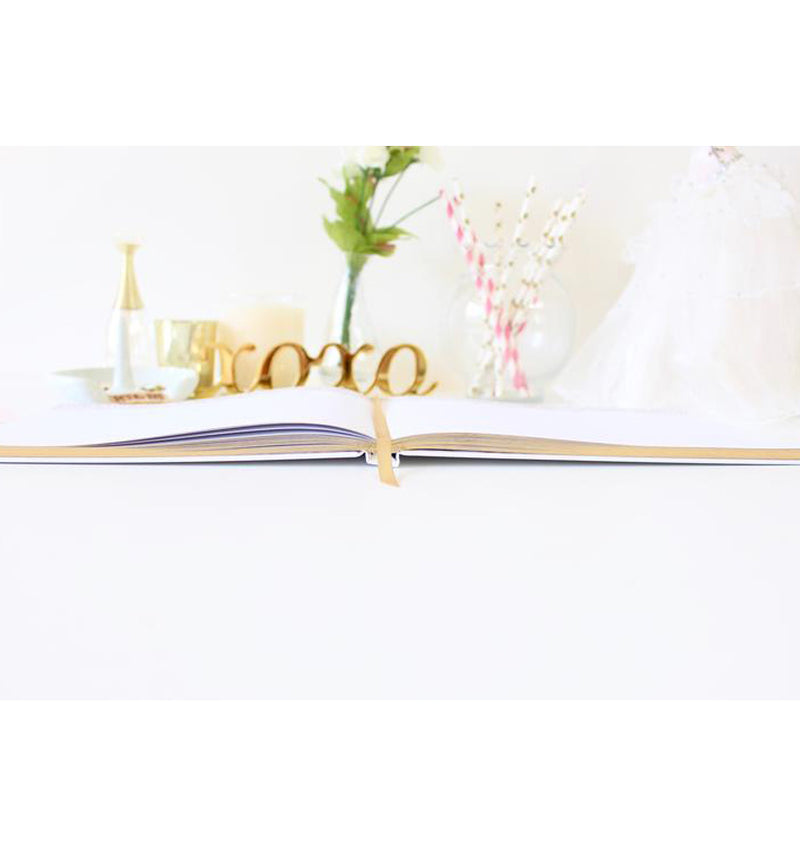 Bloom's Classic Gold Foil Hardcover Guest Book Side