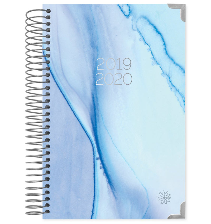 Blue Watercolor 2019-2020 Bloom Hard Cover Daily Planner