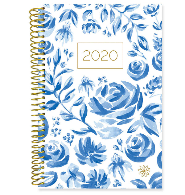 Bloom Blue & White Floral 2020 Soft Cover Planner