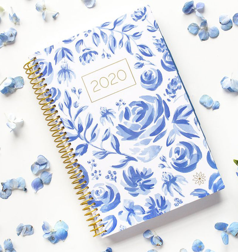 Bloom Blue & White Floral 2020 Soft Cover Planner Display