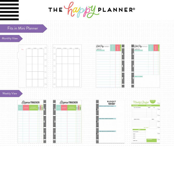 Budget Expansion Pack (Mini Happy Planner) Page Layout